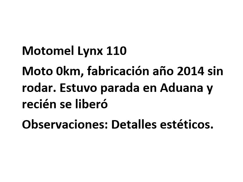 Moto Motomel LYNX 110 - Promo Fab 2016