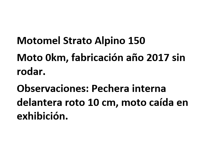 Moto Motomel Strato Alpino 150 Promo Fab. 2018