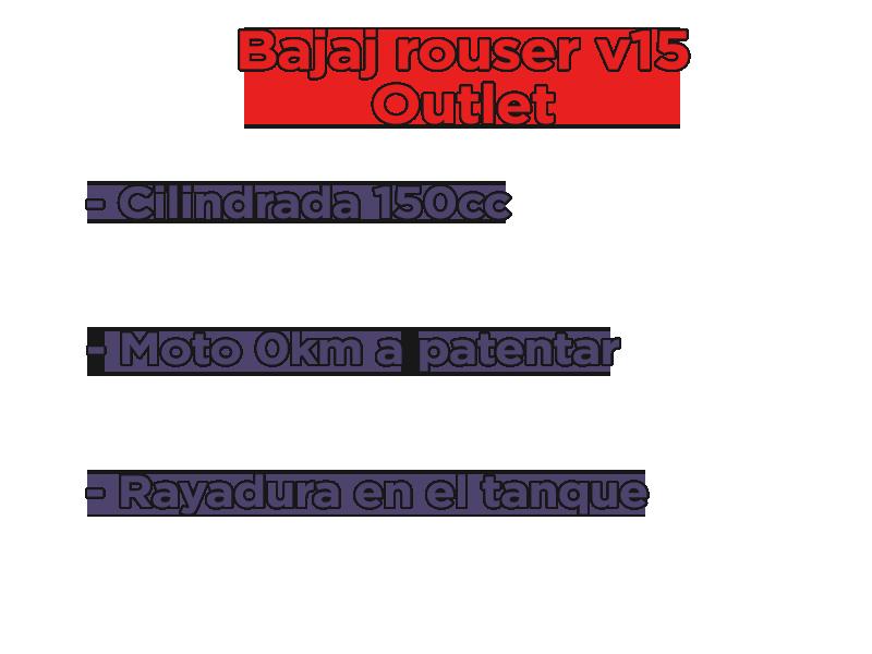 Moto Bajaj Bajaj Rouser v15 Outlet Int 16353