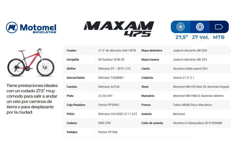 Moto Motomel MAXAM 475 BICICLETA