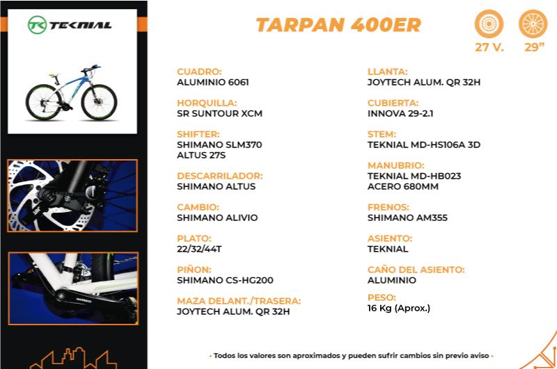 Moto Teknial TARPAN 400ER BICICLETA