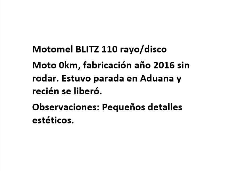 Moto Motomel Blitz 110 V8 R/D promo - fab 2017