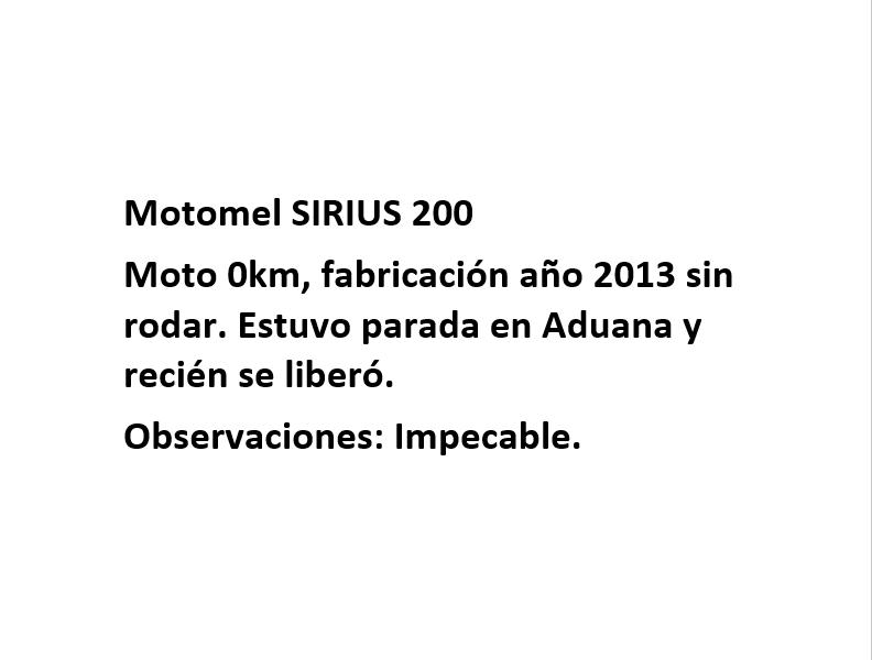 Moto Motomel Sirius 200 linea 2017