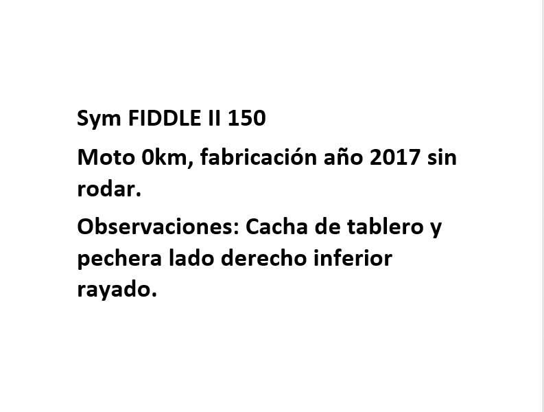 Moto Sym Fiddle II 150 S Outlet Int 16627