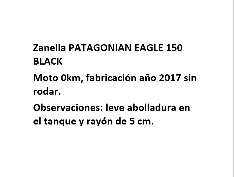 Moto Zanella Patagonian Eagle 150 Black Outlet Int 16657