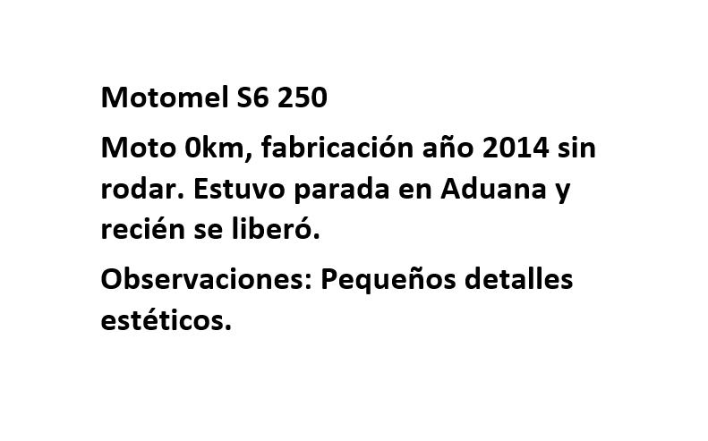 Moto Motomel S6 250 linea 2014