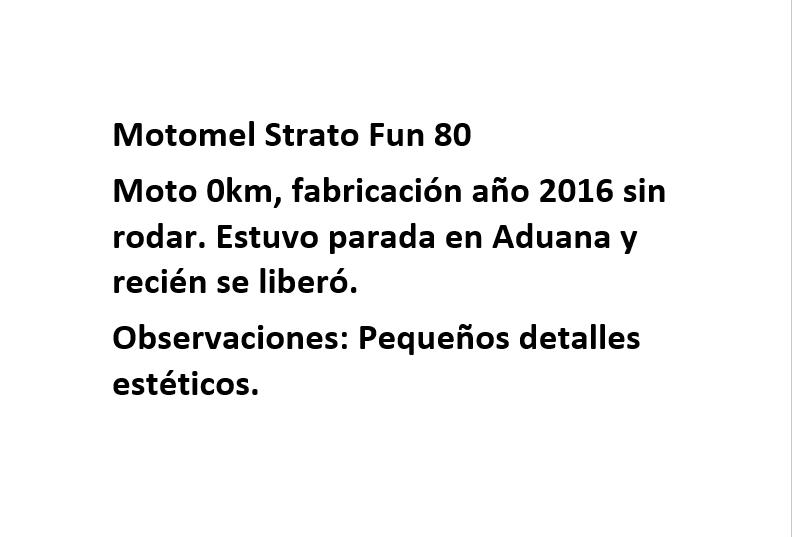 Moto Motomel Strato Fun 80 - linea 2016