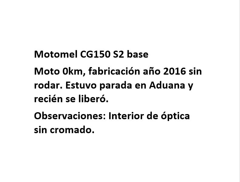 Moto Motomel CG 150 S2 Base PROMO JULIO