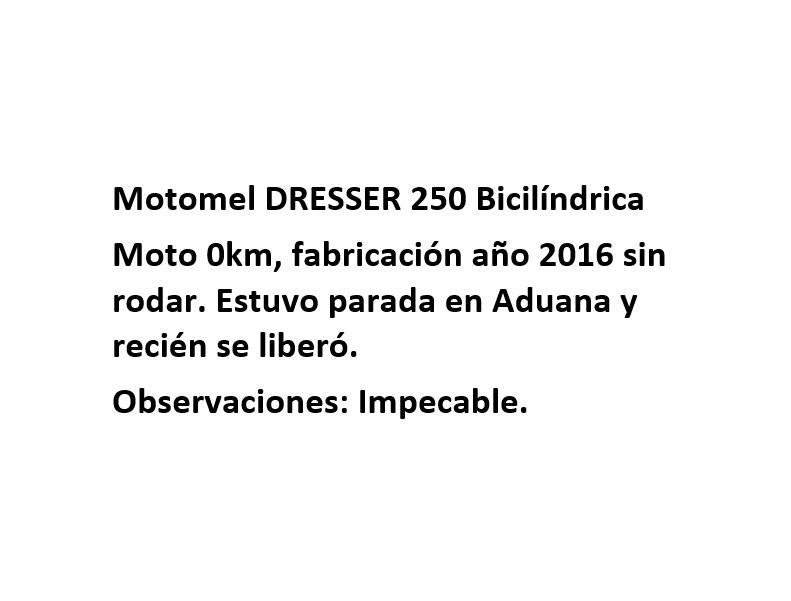 Moto Motomel Dresser 250 Bicilindrica Fab. 2016