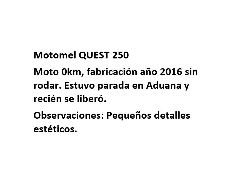 Moto Motomel Quest 250 - promo 2016