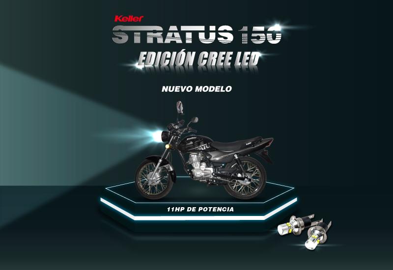 Moto Keller Stratus CG 150 Base Cree Led
