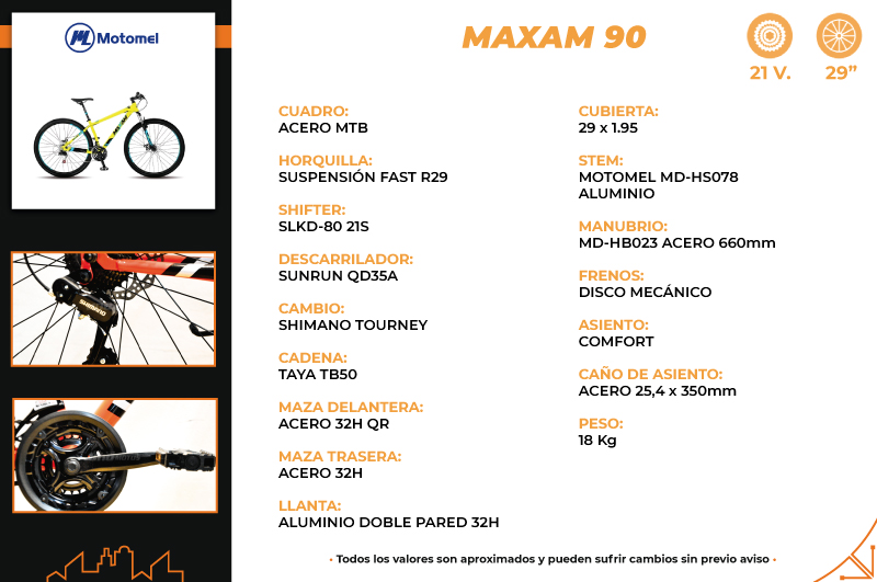 Moto Motomel MAXAM 90 BICICLETA