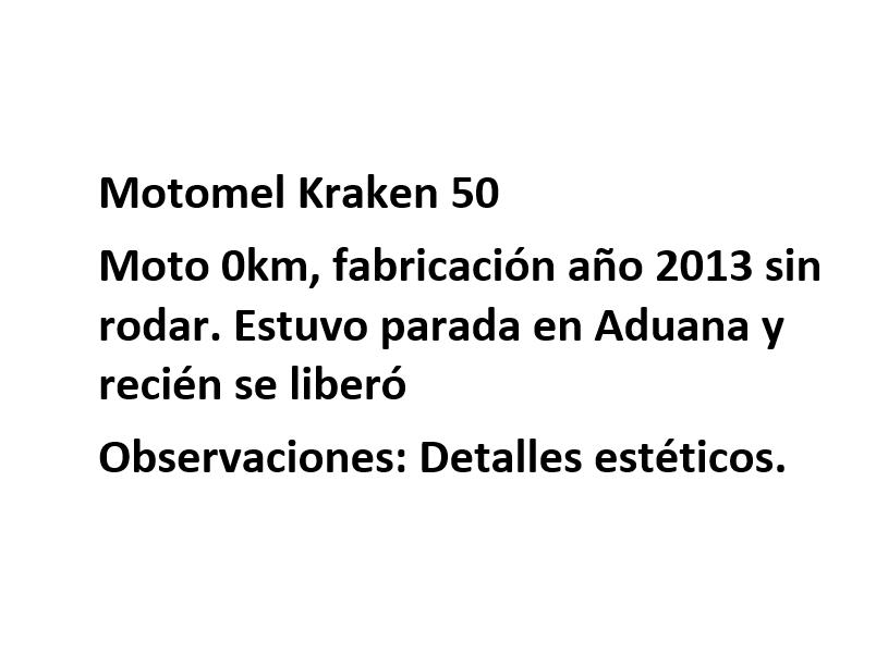 Moto Motomel Kraken 50 Promo Fab 2013