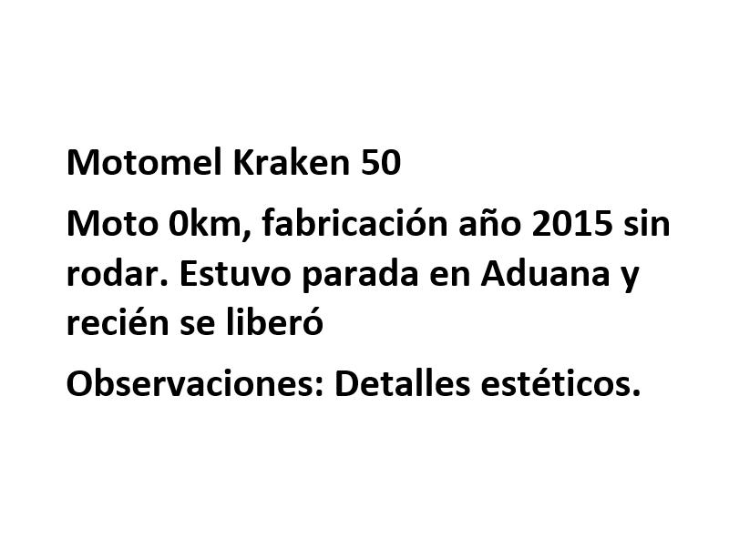 Moto Motomel Kraken 50 Promo Fab 2015
