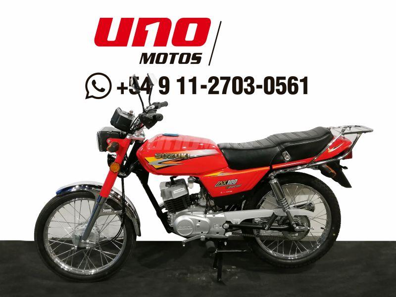 Moto Suzuki AX 100 Rojo