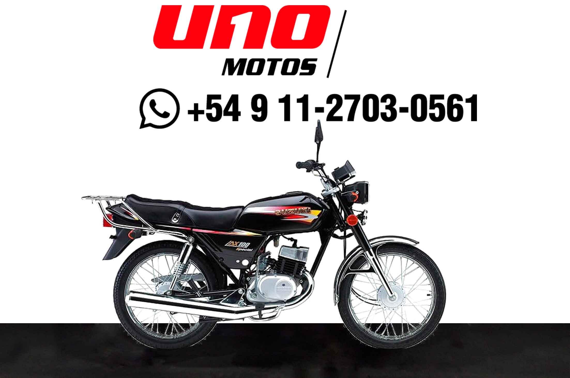 Moto Suzuki AX 100 Negro - Azul