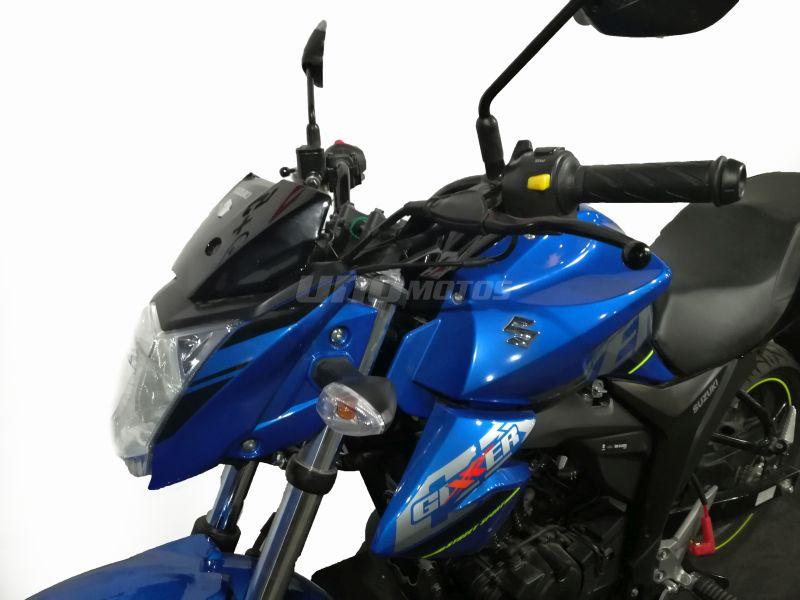 Moto Suzuki Gixxer GSX 150 Negro - Azul