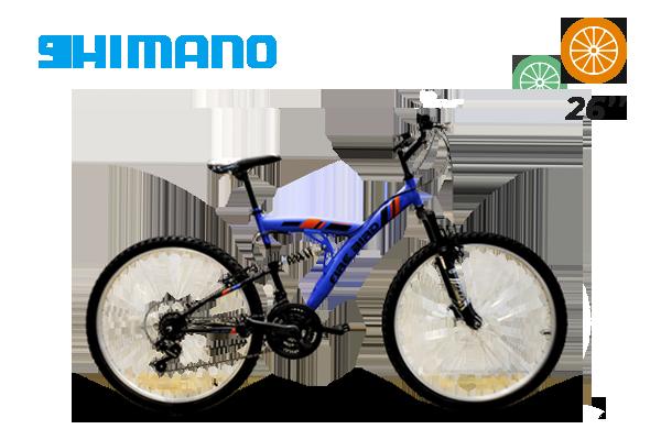 Bicicleta MTB Rod 26 18 Vel Shimano Full Suspension (15) [M2807]